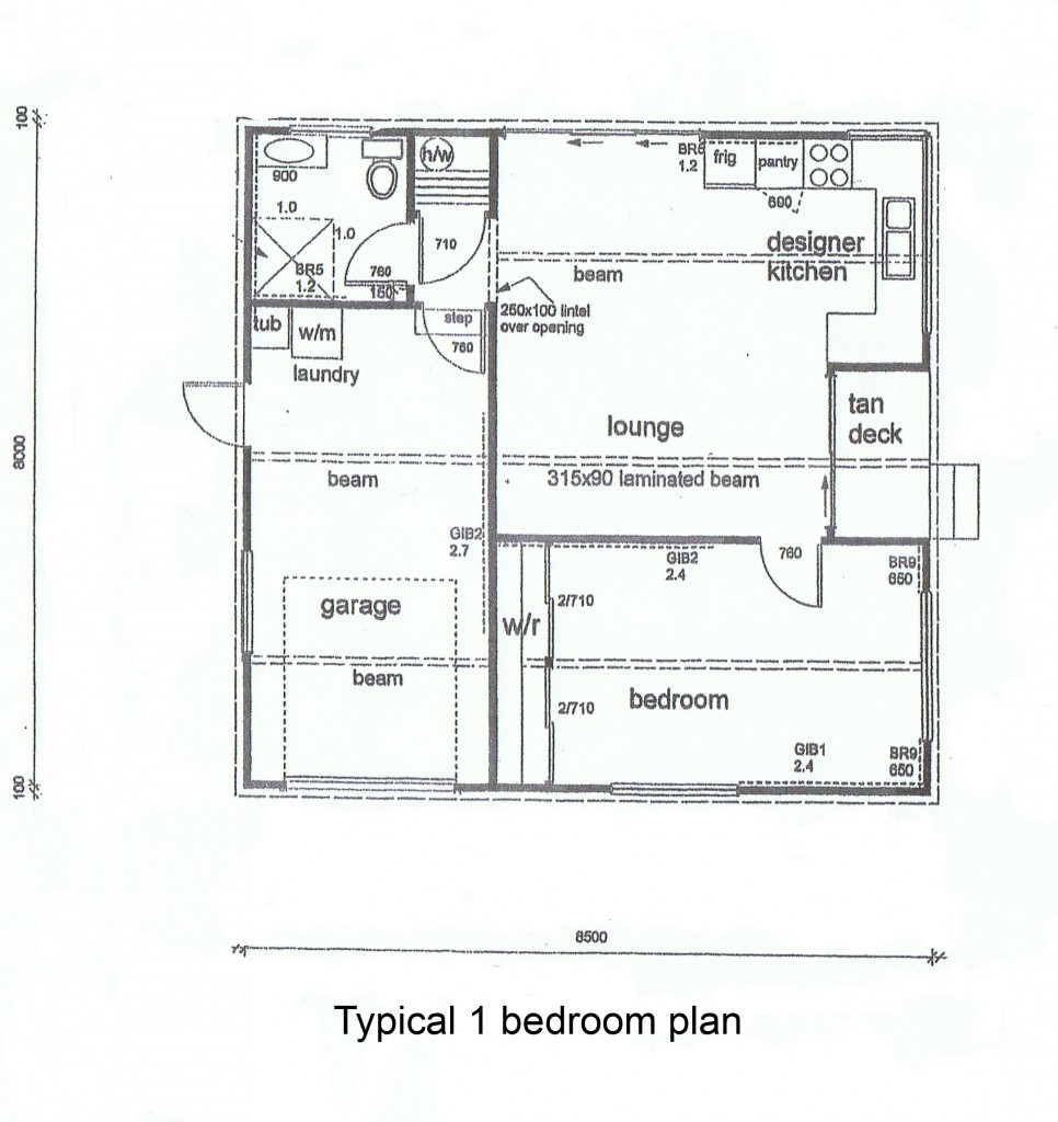 1 bedroom cottage plans floor plans for Bedroom floor plans