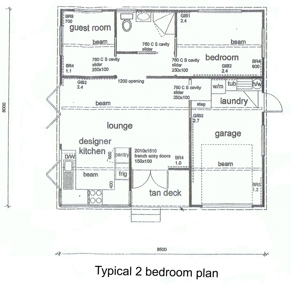 Floor Plan 20 X 20 Zoe Outdoors Portable 2-Bedroom Cottage